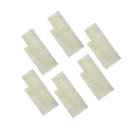 HQRP 6-pack Windtunnel Secondary Filters for Hoover 38765-019 / 38765019, 38765-023 / 38765023 Replacement + HQRP Coaster
