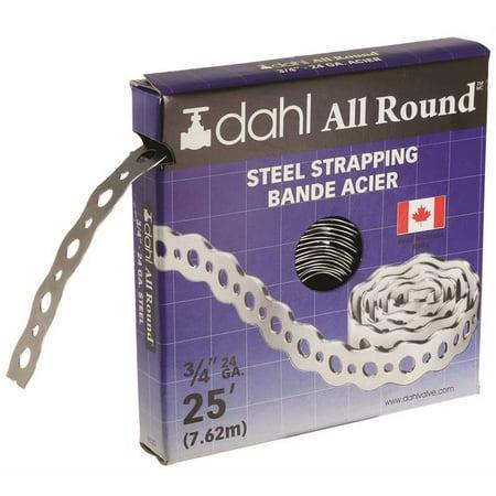 - DAHL 9020 Pipe Strap, 130 lb Capacity, 25 ft OAL, 3/4 in OAW, Steel
