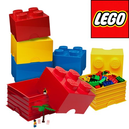 6 Lego Storage Container Brick Organizer Toy Box Stackable Case Bin Bulk Lot Set