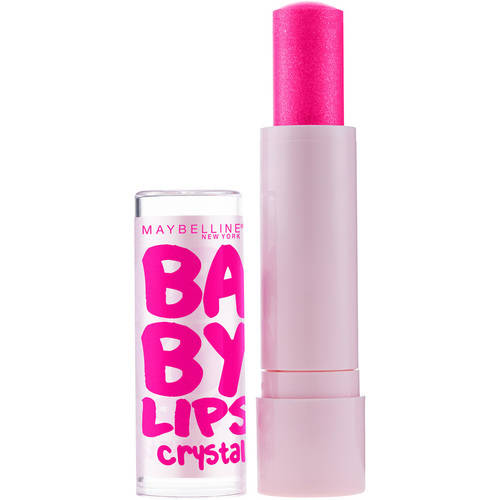 Maybelline New York Baby Lips Crystal Lip Balm, 130 Crystal Kiss, 0.15 oz, Gleaming Coral