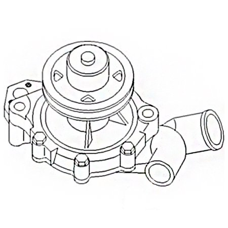 E6NN8501AC Ford New Holland Tractor Water Pump w
