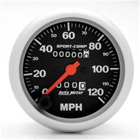 AUTO METER 3992 Sport-Comp In-Dash Mechanical Speedometer 0-120 Mph - image 2 of 2