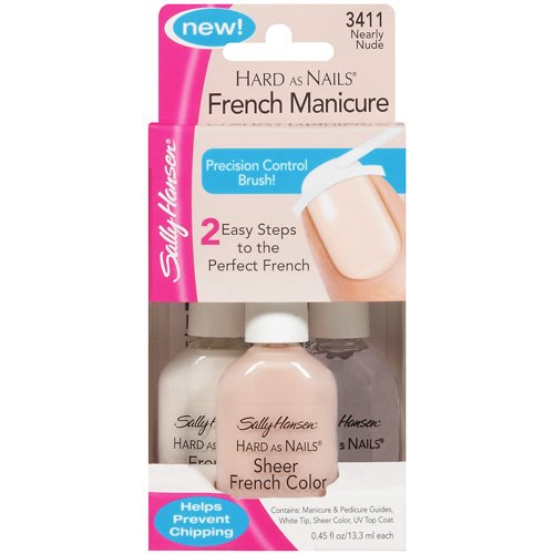 Sally Hansen Hard As Nails Nearly Nude 3411 French Manicure 3 Ct