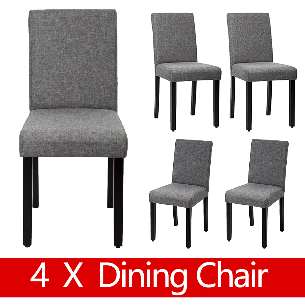 <mark>Dining</mark> Chair <mark>Set</mark> Of 4 Elegant <mark>Design</mark> Modern Fabric Upholstered <mark>Dining</mark> Chair For <mark>Dining</mark> <mark>Room</mark> Grey