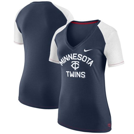 Minnesota Twins Nike Women's V Fan T-Shirt - Navy