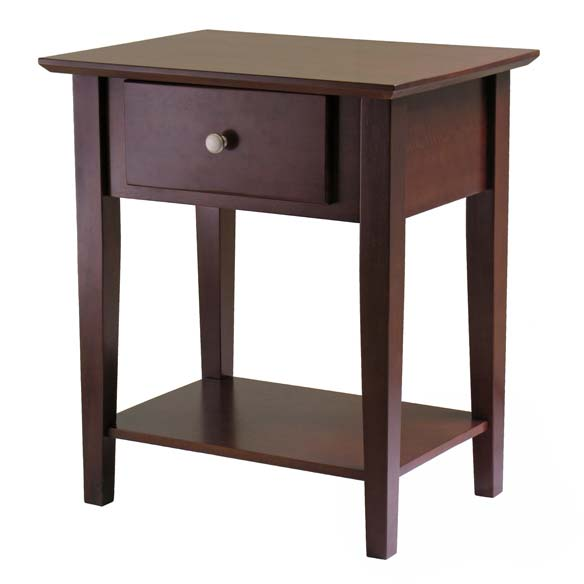 Winsome Shaker Night Accent Table, Walnut