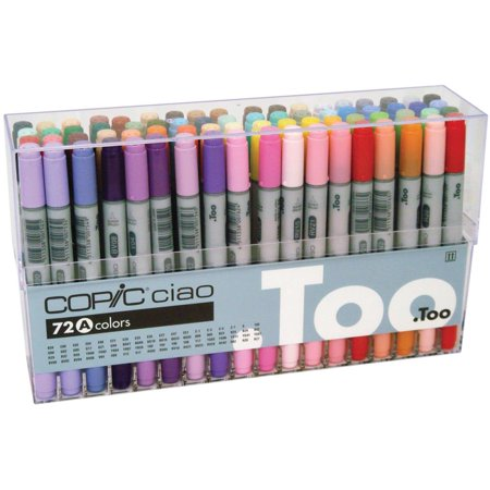 Copic® Ciao Marker Set, 72-Color Set A