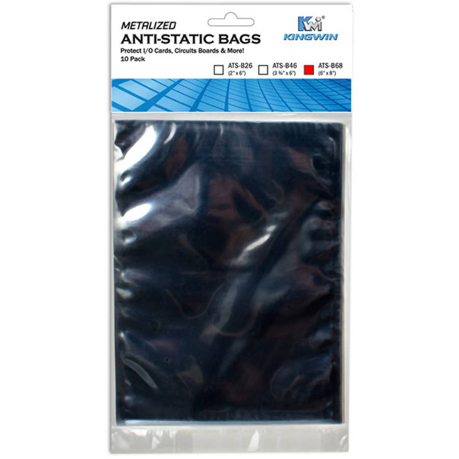 "Anti-Static Bag 6"" x 8"", 10-Pieces/Bag, for 3.5"" Hard Drive"