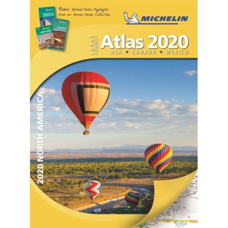 Michelin north america large format atlas 2020: usa, canada and mexico (hardcover): 9782067237162
