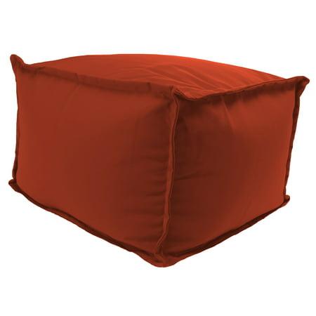 Fine Sunbrella 25 X 23 X 17 Outdoor Square Pouf Ottoman Machost Co Dining Chair Design Ideas Machostcouk