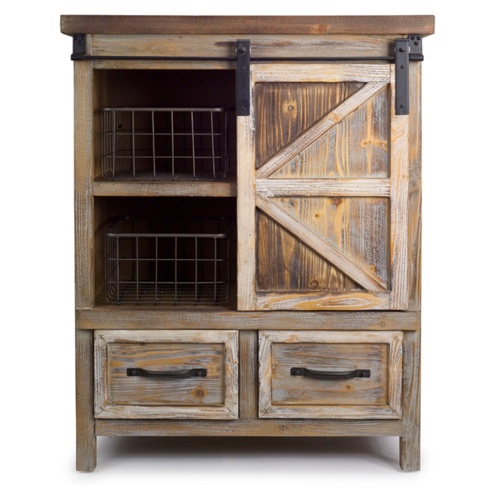 Melrose International 2 Drawer Accent Cabinet with Baskets