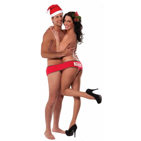 Adult's Mens Naughty Two For One Underwear Christmas Fundies Costume  Accessory