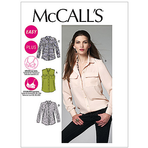 McCall's Pattern Misses' and Women's Shirts, B5 (8, 10, 12, 14, 16)