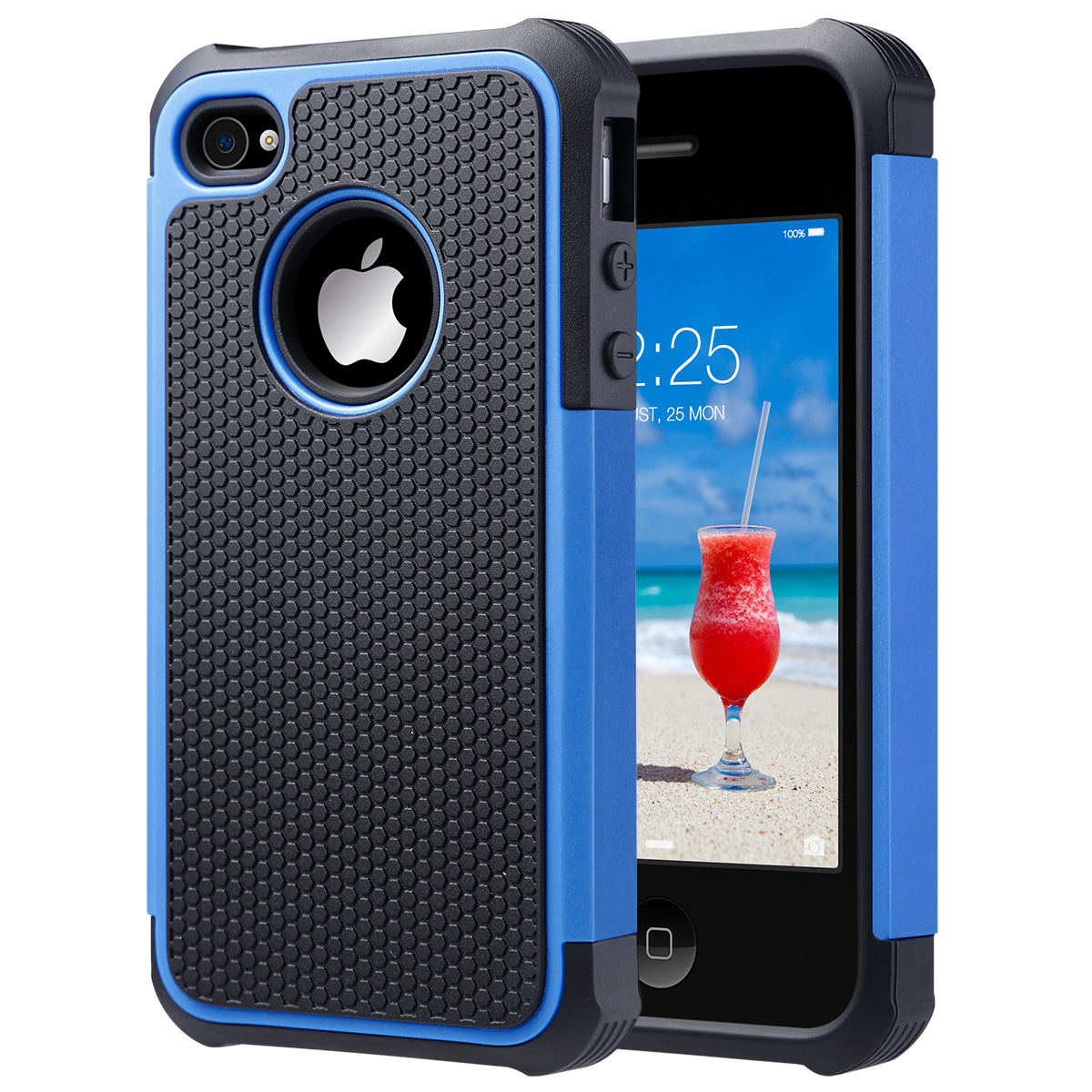 iPhone 4 Case, iPhone 4S Case, ULAK Hybrid Dual Layer Protective Case Cover with Hard Plastic and Soft Silicone for iPhone 4S & iPhone 4