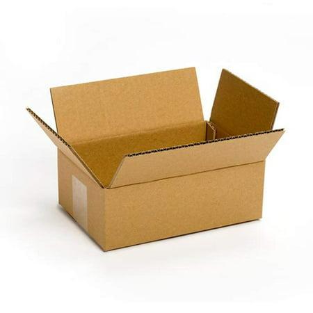 Recycled Cardboard - Pratt PRA0016 Recycled Corrugated Cardboard Single Wall Standard Box with C Flute, 8