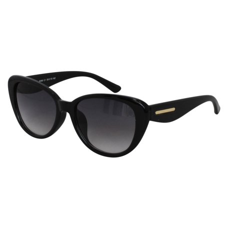 Ebe Sunglasses Reader Cheaters Womens Mens Black Retro Large Cat Eye Acetate Anti Glare Light Weight hj8066 ()