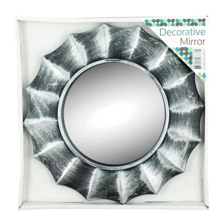 Distressed Silver Circle Wall Mirror (Pack Of 8)