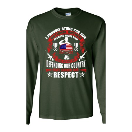City Shirts Long Sleeve Adult T Shirt I Proudly Stand
