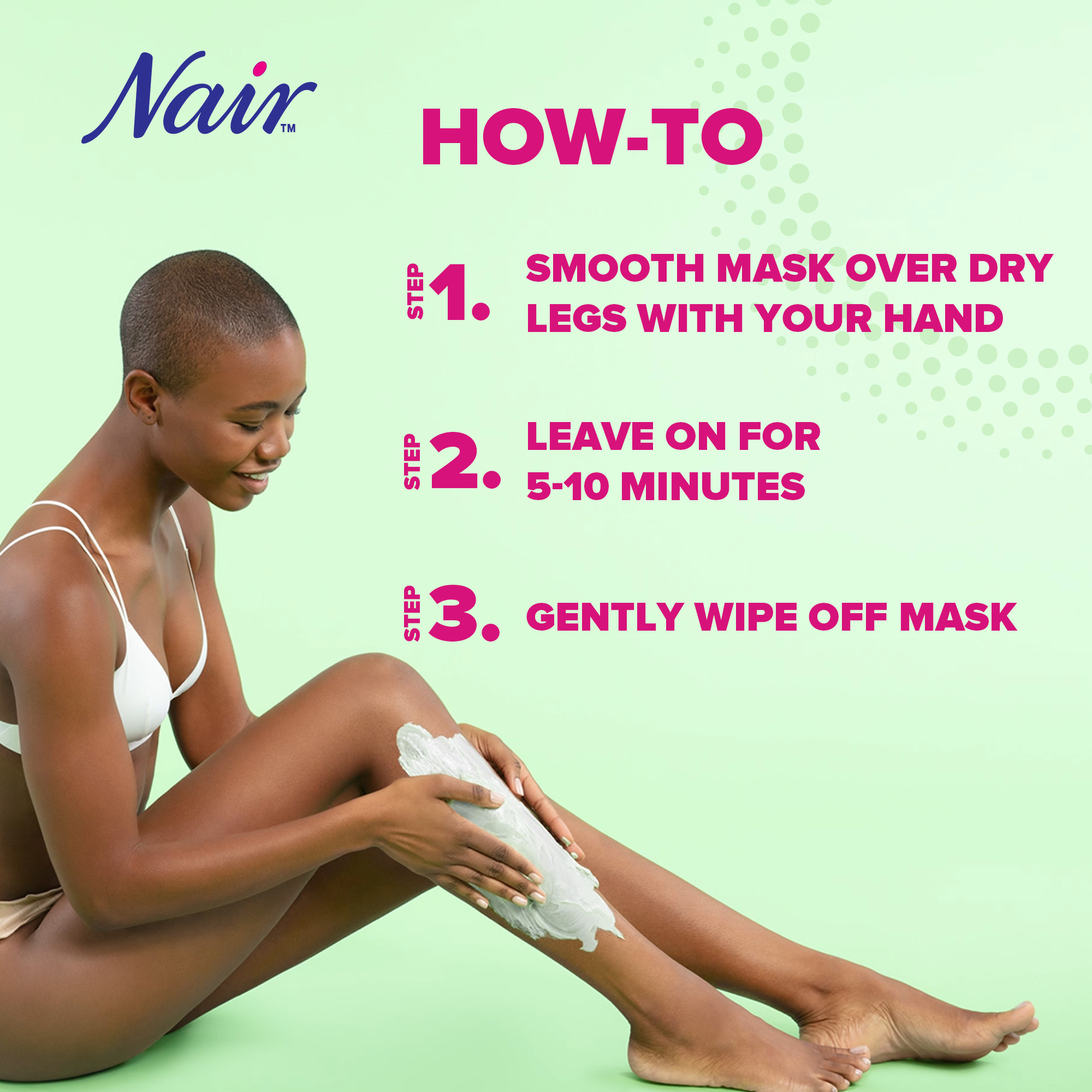 Nair Hair Remover Beauty Treatment Seaweed Leg Mask 8 0oz