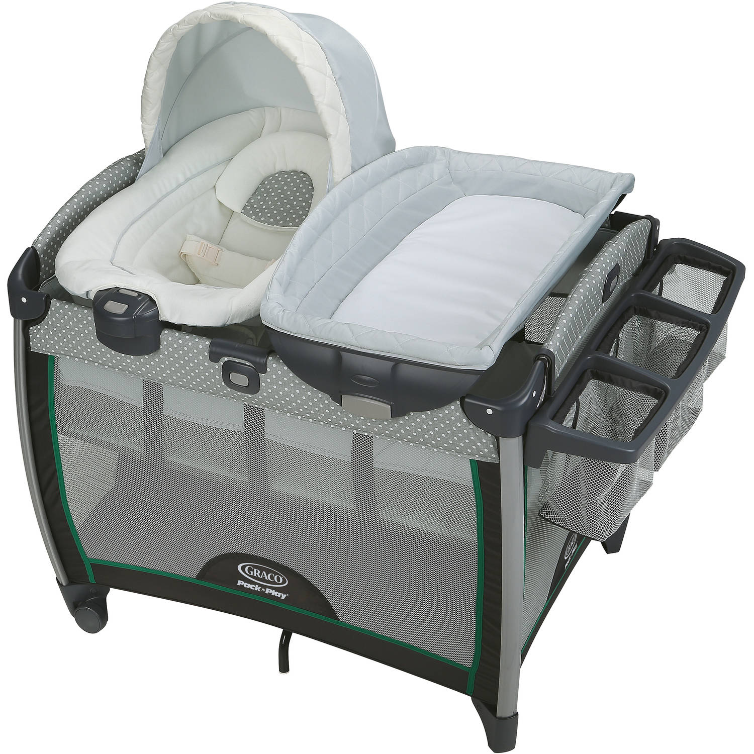 Graco Pack 'n Play Quick Connect Portable Bouncer with Bassinet, Albie by Graco