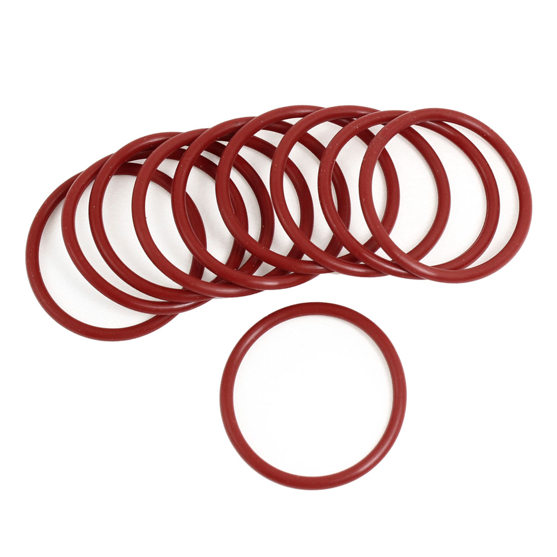 Unique Bargains 10 Pieces 43mm x 3mm x 37mm Rubber Sealing Washers Oil Filter O Rings Red