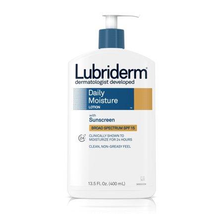 Lubriderm Daily Moisture Lotion, Vitamin B5 and SPF 15, 13.5 fl. oz