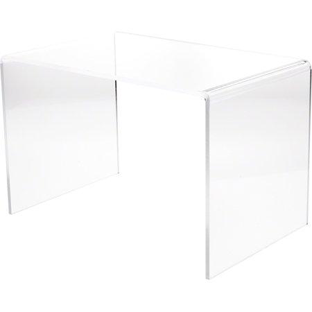 Plymor Brand Clear Acrylic Rectangular Riser