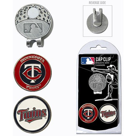 Team Golf MLB Minnesota Twins Cap Clip With 2 Golf Ball Markers