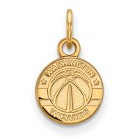 LogoArt Sterling Silver Gold-plated NBA Washington Wizards Extra Small Pendant