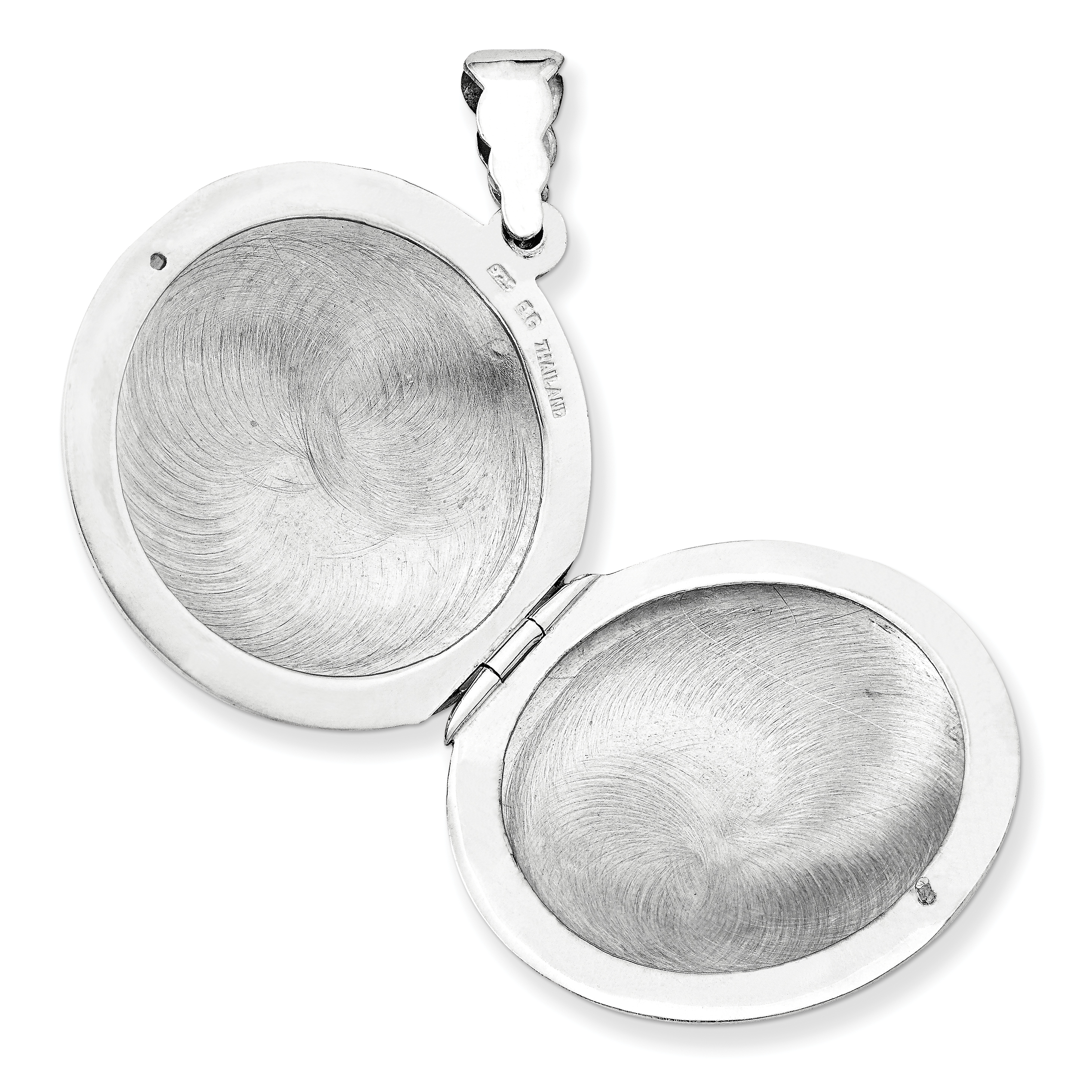 925 Sterling Silver Domed Photo Pendant Charm Locket Chain Necklace That Holds Pictures Shaped Fine Jewelry Gifts For Women For Her - image 2 de 3