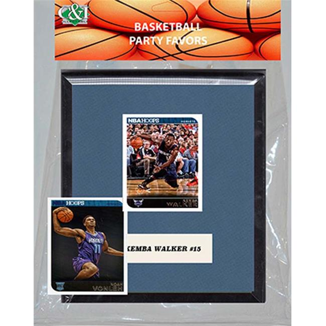 Candlcollectables 67LBHORNETS NBA Charlotte Hornets Party Favor With 6 x 7 Mat And Frame