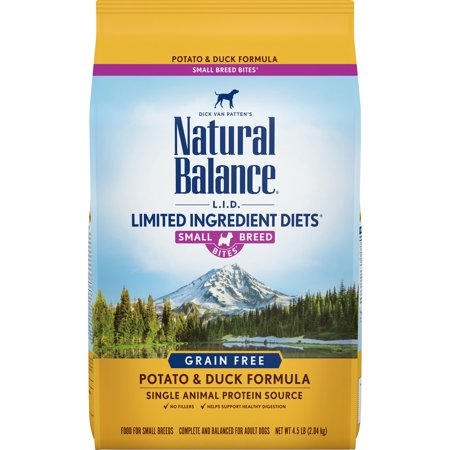 Natural Balance Limited Ingredient Grain-Free Potato & Duck Small Breed Bites Dry Dog Food, 4.5 Lb ()