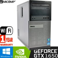 Dell 7010 Gaming Computer PC I5-3470 3.2Ghz GTx 1650 HDMI 16Gb 2Tb WiFi Windows 10 PC ( 1 Year Warranty) Refurbished