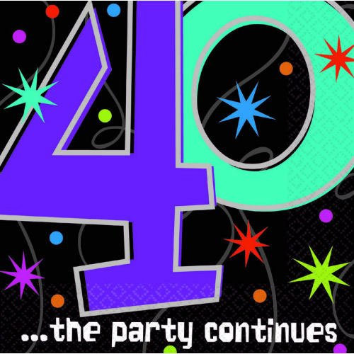 The Party Continues 40th Birthday Tablecover New