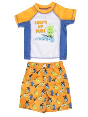 Freestyle Revolution Baby Toddler Boy Rashguard & Swim Trunks, 2pc Set