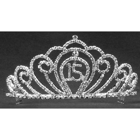 Rhinestone Mis Quince Anos Tiara Corona Sweet 15 Birthday Princess Crown - Birthday Princess Crown