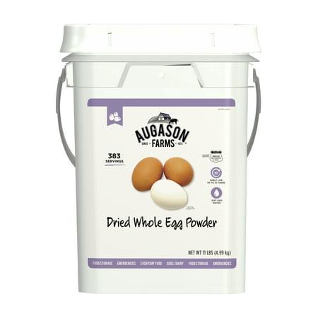 Augason Farms Dried Whole Egg Powder Emergency Food Supply 11 Pound 4-Gallon Pail 383 (Timberridge Farms Scrambled Egg Patties 13-5 Oz)