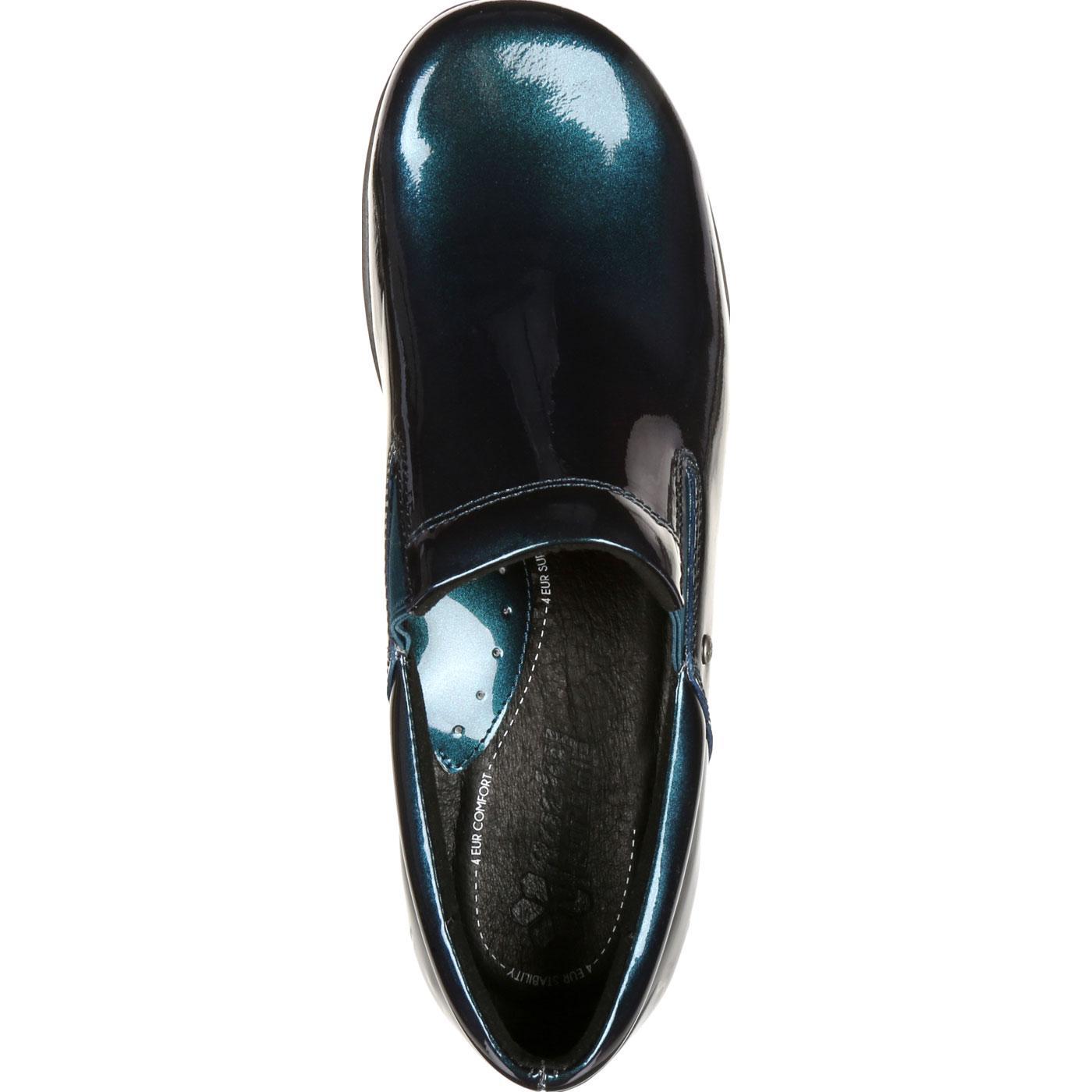 4eursole 4eursole 4eursole toujours les femmes et confort # 39; s bleu métallique harbor cuirs glisse sur la chaussure 583992