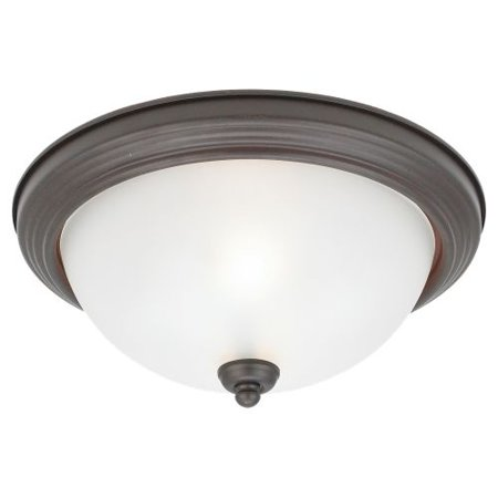 Energy Star 2 Light (Sea Gull Lighting 79364BLE Ceiling Flush Mount 2 Light Energy Star Flush Mount)