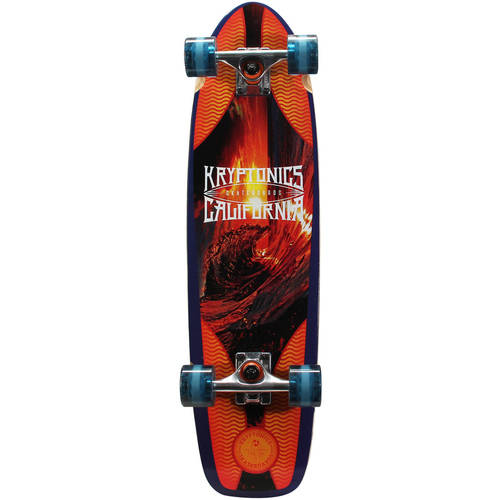 "Kryptonics Complete Cruiser Skateboard, 30"" x 8"" by"