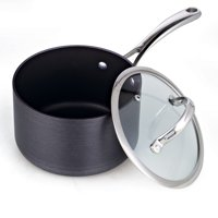 Cooks Standard Hard Anodize Sauce Pan with Cover, 3-qt