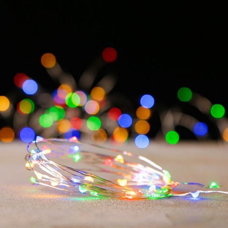 raz imports 00412 80 light 20 silver wire multi color battery operated indoor