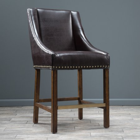 Christopher Knight Home James 31 Inch Bonded Leather Bar Stool By