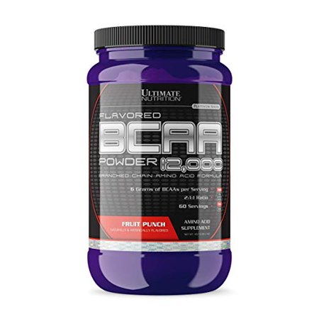 Ultimate Nutrition Flavored BCAA 12,000 Powder - Amino Acid Supplement for Muscle Building and Recovery, Fruit Punch, 60