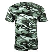 Code V Men's Short Sleeves Crew Neck Camo T-Shirt