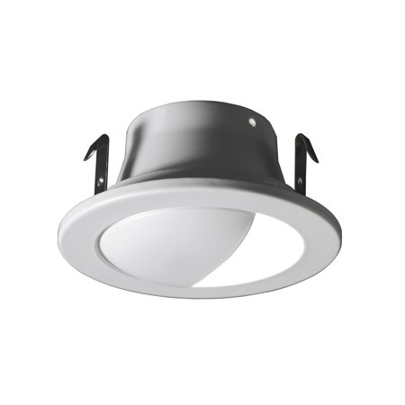 NICOR Lighting 4 inch White Recessed Wall Wash Trim for MR16 Bulb (14001WH) Wall Washer Recessed Trim