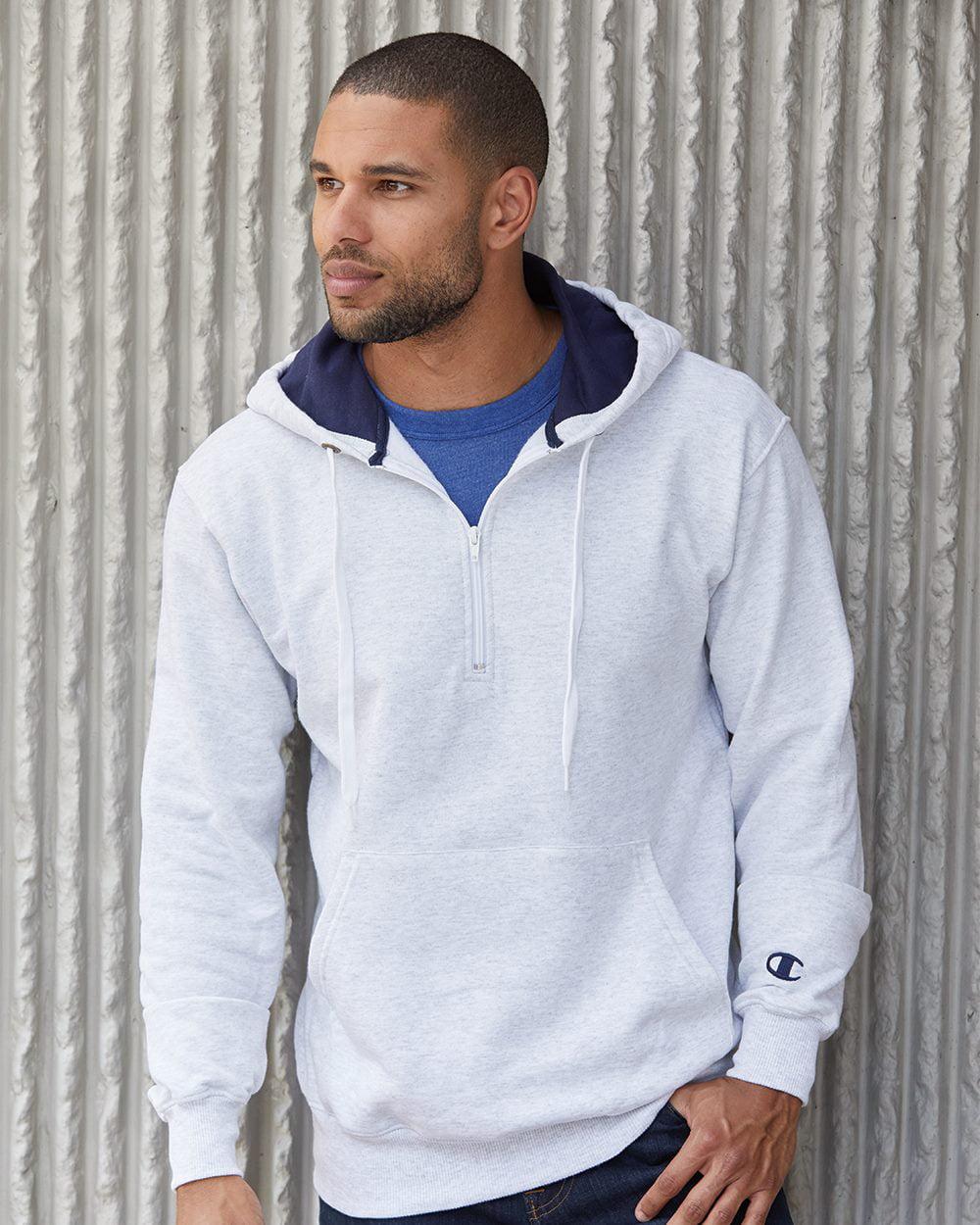 Fleece Cotton Max Hooded Quarter-Zip Sweatshirt