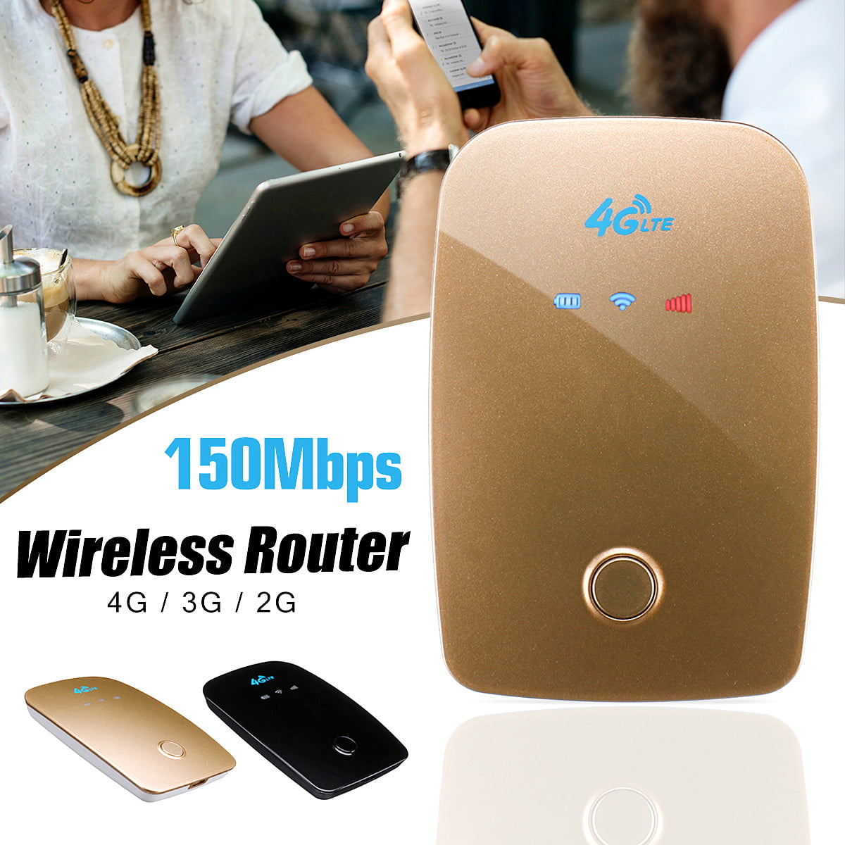 Portable 4G/3G/2G LTE Mobile WiFi Wireless Pocket Secure ...