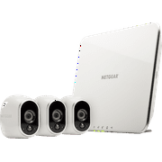 Arlo 720P HD Security Camera System VMS3330 - 3 Wire-Free Battery Cameras with Indoor/Outdoor, Night Vision, Motion Detection