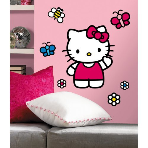 Room Mates Popular Characters 15 Piece The World of Hello Kitty Giant Wall Decal